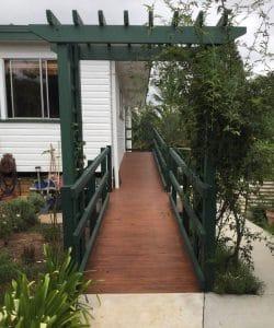 long wooden ramp