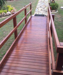 short wooden ramp