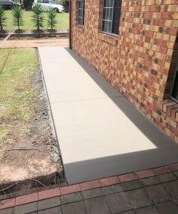 straight concrete path